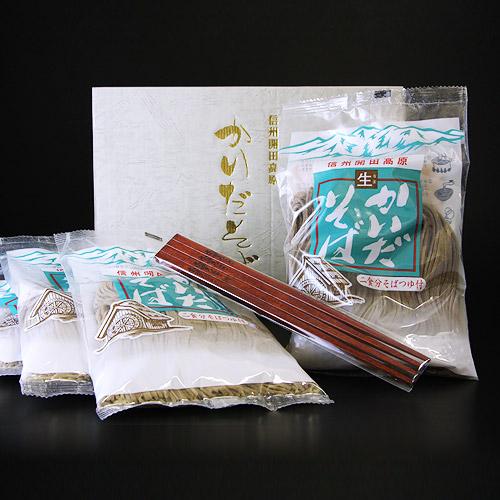 画像1: 信州開田高原 生かいだそば(4袋)+ひのき箸セット (1)