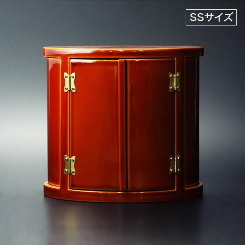 画像1: 木製 厨子 小判型 春慶漆塗(SSサイズ・特別仕様) (1)